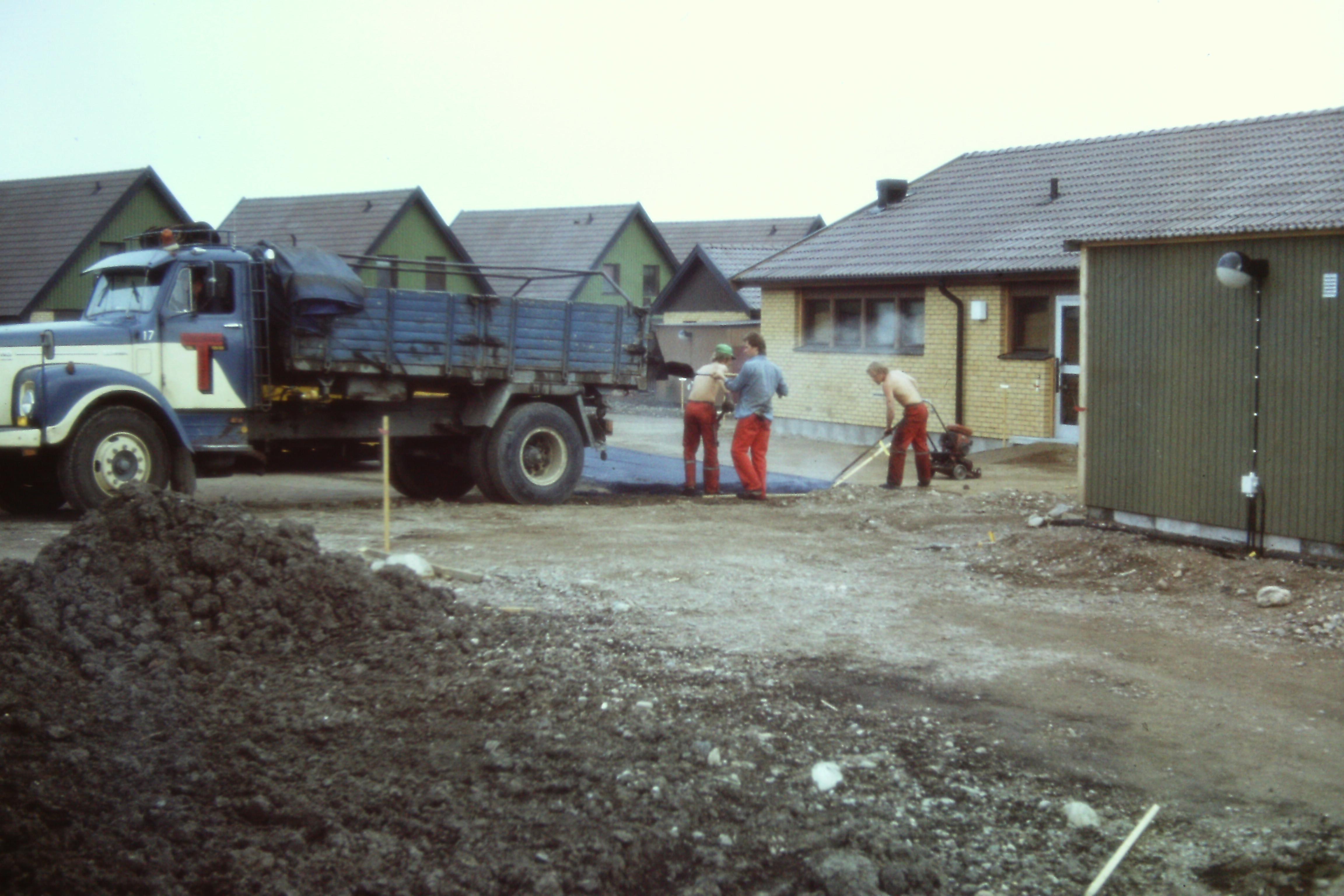 Bilder från bygget
